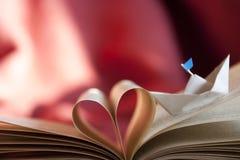 Corazón del libro. Imagen de archivo libre de regalías