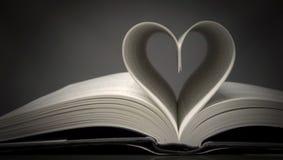 Corazón del libro Fotografía de archivo libre de regalías