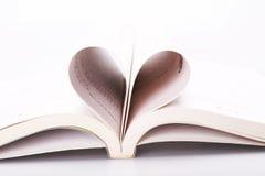 Corazón del libro Foto de archivo libre de regalías