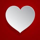 Corazón del Libro Blanco Fotos de archivo