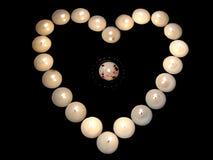 Corazón del lighst Foto de archivo