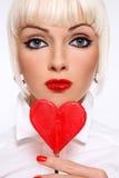 Corazón del Lollipop Foto de archivo