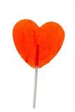 Corazón del Lollipop Fotografía de archivo libre de regalías