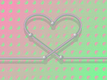 Corazón del metal. Imágenes de archivo libres de regalías