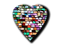 Corazón del mosaico Imagenes de archivo