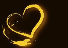 Corazón del movimiento del cepillo stock de ilustración