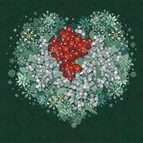 Corazón del muérdago Imagen de archivo libre de regalías