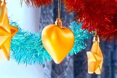 corazón del Nuevo-año Imagen de archivo libre de regalías