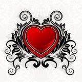 Corazón del ornamental de la tarjeta del día de San Valentín Foto de archivo