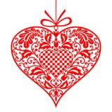 Corazón del ornamental de la tarjeta del día de San Valentín libre illustration
