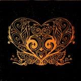 Corazón del ornamental del vector fotos de archivo libres de regalías