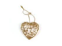 Corazón del oro Fotografía de archivo