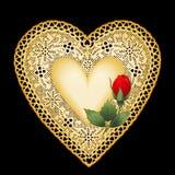 Corazón del oro Fotos de archivo libres de regalías