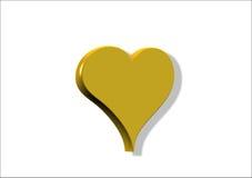 Corazón del oro Imagen de archivo libre de regalías
