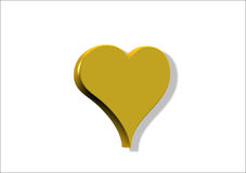 Corazón del oro libre illustration