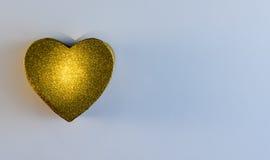 Corazón del oro Imagenes de archivo