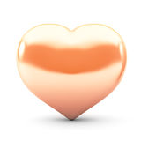 Corazón del oro Foto de archivo libre de regalías