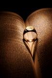 Corazón del oro Foto de archivo