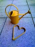 Corazón del oro Fotos de archivo