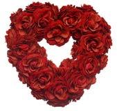 Corazón del pétalo de Rose Fotografía de archivo