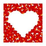 Corazón del pétalo del vector Imagen de archivo libre de regalías