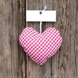 Corazón del paño Foto de archivo libre de regalías