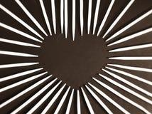 Corazón del palillo foto de archivo libre de regalías