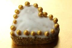 Corazón del pan de jengibre Imagen de archivo