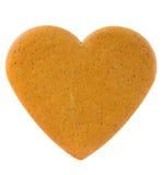 Corazón del pan de jengibre Fotos de archivo libres de regalías