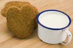 Corazón del pan de jengibre Foto de archivo