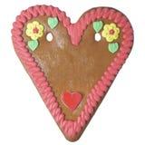 Corazón del pan de jengibre Fotografía de archivo libre de regalías