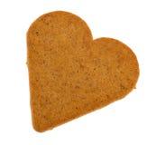 Corazón del pan de jengibre Fotografía de archivo