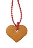 Corazón del pan del jengibre imagen de archivo libre de regalías