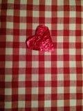 Corazón del papel de estaño Foto de archivo