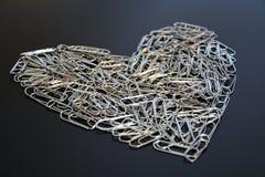 Corazón del Paperclip Fotos de archivo