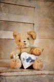 Corazón del peluche Fotos de archivo libres de regalías