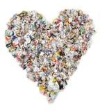 Corazón del periódico Imagen de archivo