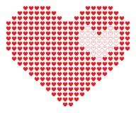 Corazón del pixel. Imágenes de archivo libres de regalías