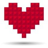 Corazón del pixel Imágenes de archivo libres de regalías