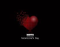 Corazón del pixel del vector, fondo de Valentine Day Foto de archivo