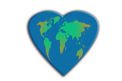 Corazón del planeta libre illustration