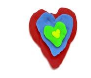 Corazón del plasticine Foto de archivo libre de regalías