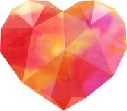 Corazón del polígono Fotos de archivo libres de regalías