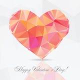 Corazón del polígono - ejemplo del vector Fotografía de archivo libre de regalías