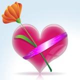 Corazón del regalo stock de ilustración