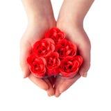 Corazón del regalo Imagen de archivo
