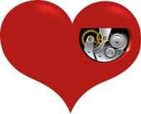 Corazón del reloj Fotografía de archivo libre de regalías