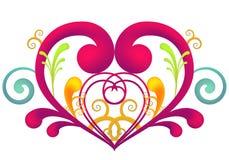 Corazón del remolino Fotografía de archivo libre de regalías
