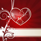 Corazón del remolino Fotos de archivo libres de regalías