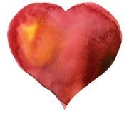 Corazón del rojo de la acuarela Libre Illustration